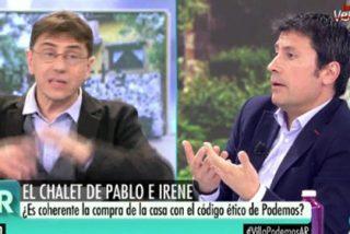 José Luis Pérez (COPE) deja tiritando a Monedero con un argumento irrefutable sobre el imperial chalet de los jefes podemitas
