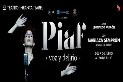'Piaf, voz y delirio' invita a cien personas sin hogar al Teatro Infanta Isabel