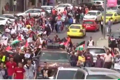 Así dispersa Israel con gas lacrimógeno a los palestinos que reclaman sus tierras