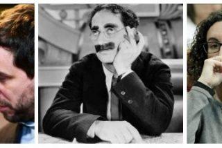 Lloros, gritos e insultos... el 'Yatekomo News' revela que los golpistas sabían que hacían la republiqueta de Groucho Marx