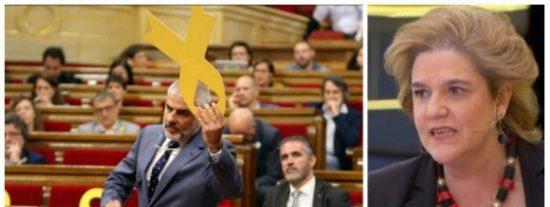 """Pilar Rahola se pone como el bicho del pantano con Carrizosa por arrancar el lazo amarillo: """"Escoria fascista"""""""