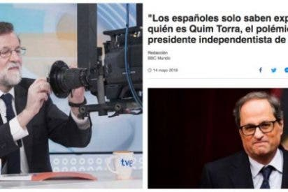 Los medios extranjeros le hacen el trabajo a los acoquinados de La Moncloa para hundir al nazi Torra