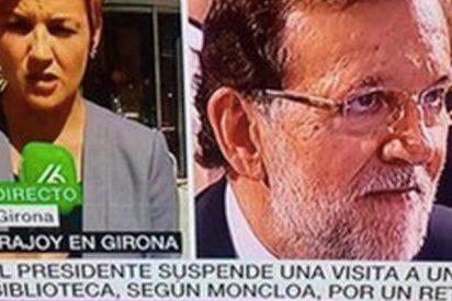 Descojone con un rótulo que apareció en La Sexta sobre Rajoy y su viaje a una biblioteca