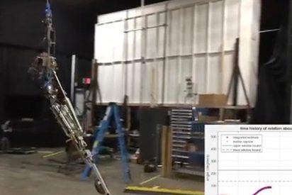 El impresionante vídeo de Disney enseñando a su robot a hacer piruetas en el aire