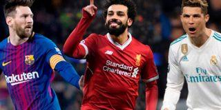 Salah se compara con Cristiano y Messi