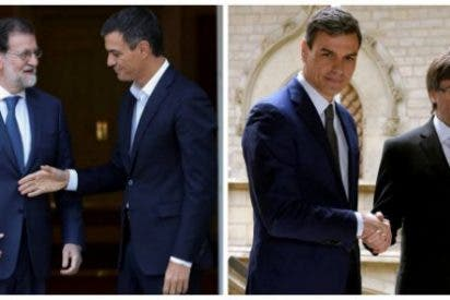 La inestabilidad de Pedro Sánchez: de cafetear con Rajoy en defensa del 155 a esperar el dedo decisorio de 'Puchi'
