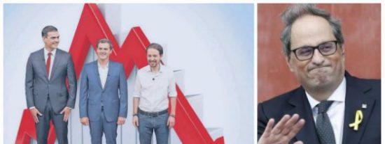 La exhibición de acné político de Sánchez, Iglesias y Rivera no es barata: desplome en la Bolsa y oxígeno al golpismo