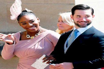 Serena Williams y su viral vestido rosa de Versace en la boda de Meghan Markle y el príncipe Harry