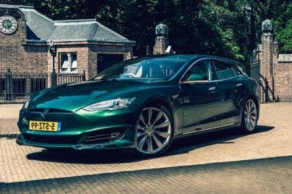 Tesla Model S 'shooting brake'es una creación única ideal para familias
