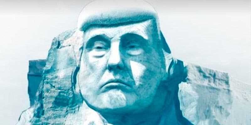 Ecologistas quieren esculpir a Trump en un glaciar para demostrar el cambio climático