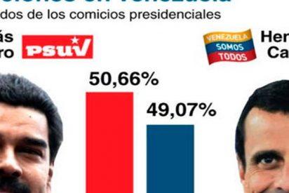 Resultados de los comicios presidenciales en Venezuela