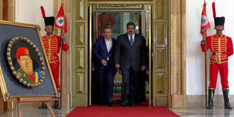 El inefable Zapatero clava en la Venezuela chavista el ultimo clavo de su ataúd político