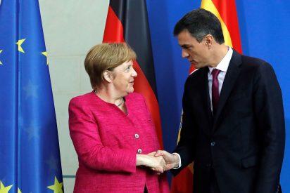 La vergonzosa declaración de amor de una embobada Angela Merkel sobre Puigdemont
