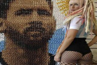 ¿Habías visto el espectacular mural de Messi que hizo esta chica con pinzas para el pelo?