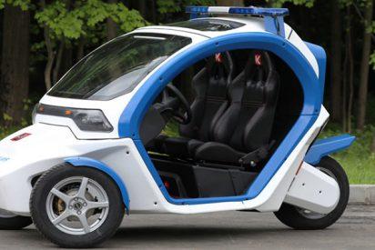 Así son los vehículos futuristas de la Policía de Moscú