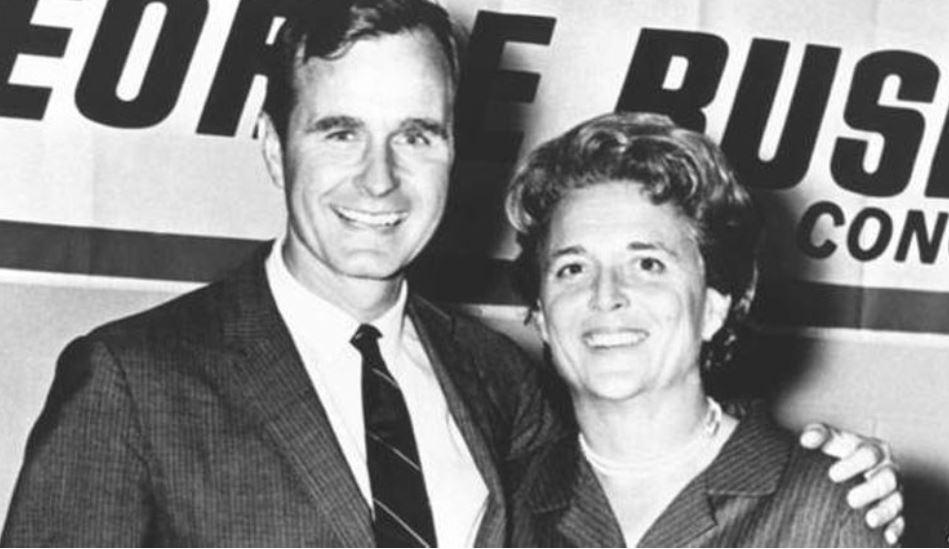 George H.W. Bush y Bárbara Bush