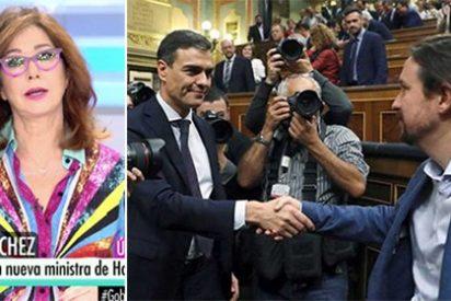 """Ana Rosa especula con el caramelito que le puede caer a los podemitas: """"¡A lo mejor Sánchez les da Radio Televisión Española!"""""""