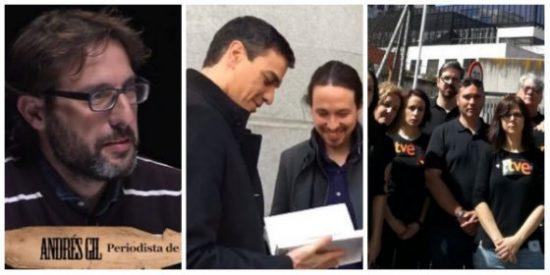 Sánchez e Iglesias quisieron tomar por idiotas a los trabajadores de RTVE y han quedado como la chata