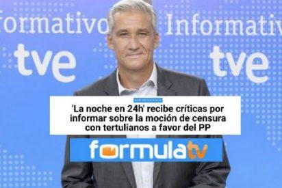 Fórmula TV se escandaliza por la presencia en 'La noche en 24 horas' de TVE... ¡de tertulianos del PP!