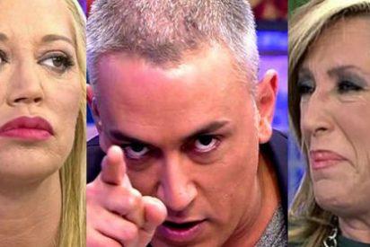 """Un micro abierto deja con el culo al aire a Belén Esteban, Lydia Lozano y Kiko Hernández: """"¡Esto es una mierda!"""""""