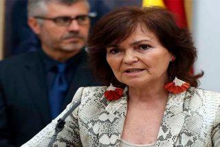 Los defensores de la gestación subrogada le dan la del pulpo a la vicepresidenta Carmen Calvo