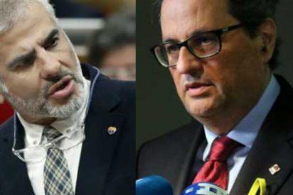 Repaso en toda regla de Carrizosa a los xenófobos y supremacistas Torra y Puigneró en una tensa sesión de control al gobierno catalán