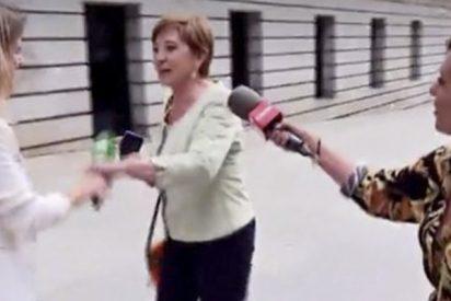 Celia Villalobos frena en seco a Andrea Ropero a las puertas del Congreso