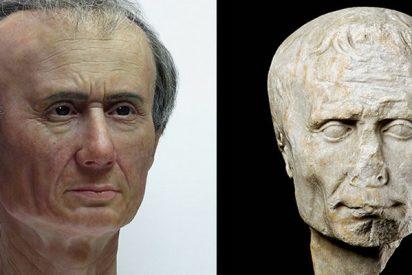 Esta reconstrucción de la cabeza de César revela sus secretos extraordinarios