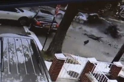 Cuatro heridos deja este terrible choque múltiple en Nueva York
