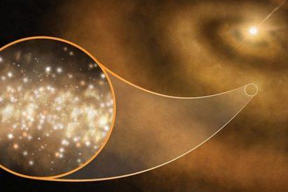 Polvo de diamante produce esta extraña luz de microondas en el cosmos