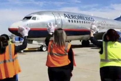 Inquietante despedida a este avión en México...