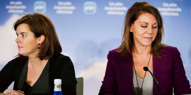 Las 'oscuras' maniobras de Soraya Sáenz de Santamaría y Dolores Cospedal turban al PP