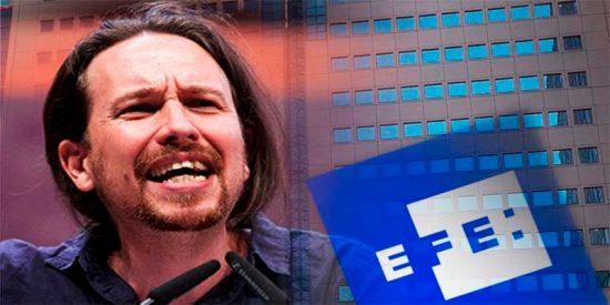 Pablo Iglesias no se contenta con RTVE y exige a Pedro Sánchez que entregue también la Agencia EFE a Podemos