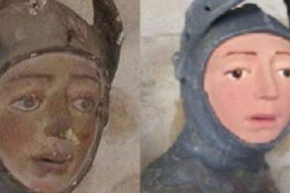 Profesora de manualidades convierte esta escultura del siglo XVI en el nuevo 'Ecce Homo'