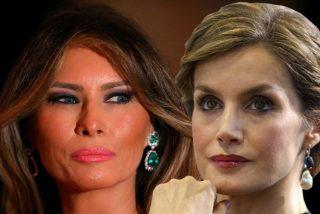 El error de doña Letizia con su caro vestido que la deja en evidencia ante Melania Trump