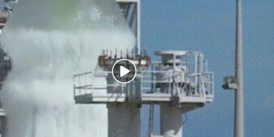 El impresionante extintor de la base espacial Kénnedy