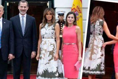 El fake de la visita de los Reyes a la Casa Blanca: Donald Trump le toca el trasero a la reina Letizia