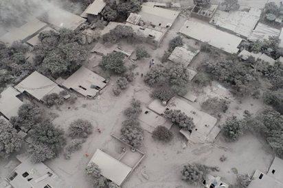 Dramáticas imágenes aéreas tras la erupción del Volcán de Fuego en Guatemala
