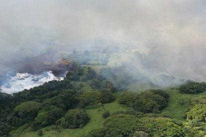 El lago más grande de Hawái se ha evaporado por la acción de la lava del Kilauea