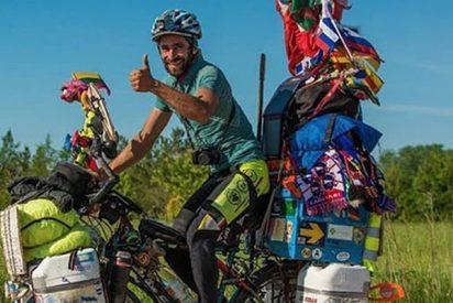 Este es el hincha argentino que ha ido al Mundial de Rusia en bicicleta