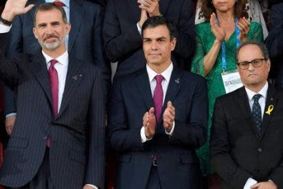 La charlotada que brindó TV3 a Quim Torra por lucirse con la suerte de don Tancredo ante el Rey