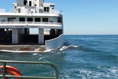 Así hunden este ferry por un insólito propósito