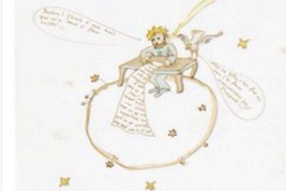 Subastan esta ilustración de una carta de amor de Saint-Exupéry