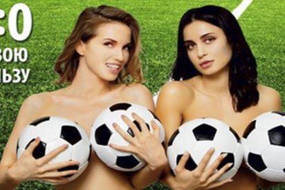 La FIFA obliga a una clínica rusa a retirar esta publicidad de implantes mamararios