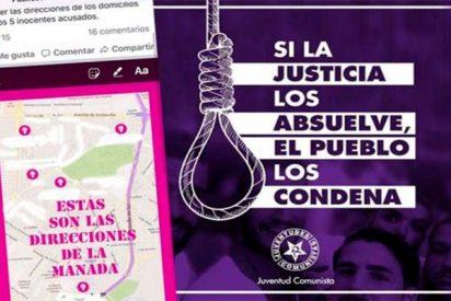 'La Manada' de progres que pide sangre y viola la ley escondida en las redes sociales