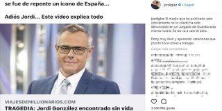 Jordi González denuncia a un medio que publicó la noticia de su muerte
