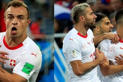 La FIFA abre un proceso disciplinario contra estos dos jugadores suizos tras sus polémicas celebraciones