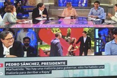 Las redes arremeten contra Cristina Pardo por este cartel que apareció en directo en 'Liarla Pardo'