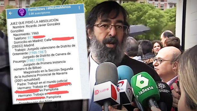 Las feministas que han difundido los datos personales del juez que exoneró a 'La Manada' y de sus familiares