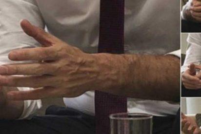 A falta de sustancia, los 'fumados' de La Moncloa nos atufan en Twitter con las 'manitas' de Pedro Sánchez